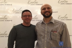 NOSHA member Mark Zeller (r)  and internationally-known celebrity psychic, John Edward.